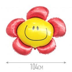 И 41 Цветочек (солнечная улыбка) красный / Flower / 1 шт / (Испания)