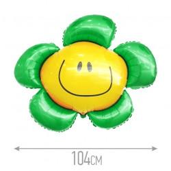 И 41 Цветочек (солнечная улыбка) зеленый / Flower / 1 шт / (Испания)
