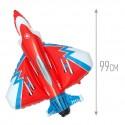 Шар Супер истребитель красный 99см