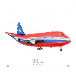 Шар Самолет красный 99см