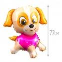 Шар Девочка-щенок 72см