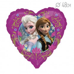 "Шар сердце ""Холодное сердце"" 46 см / Frozen Heart S60 / 1 шт / (США)"