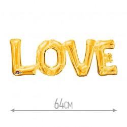Фольгированный шар LOVE золото