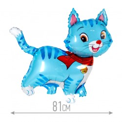 Шар (32''/81 см) Фигура, Любимый котенок, Синий, 1 шт.