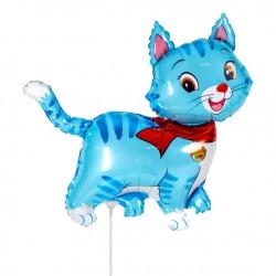 Шар Милый котенок Голубой 35см