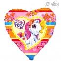 Шар Сердце Моя маленькая лошадка 48см
