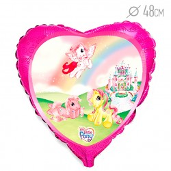 Шар Сердце Моя маленькая лошадка Замок 48см