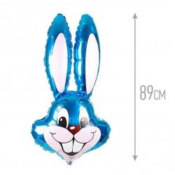 Шар (35''/89 см) Фигура, Заяц, Синий, 1 шт.