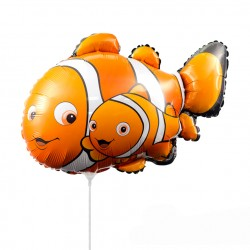 Шар (14''/36 см) Мини-фигура, Рыба-клоун Немо, Оранжевый, 1 шт.