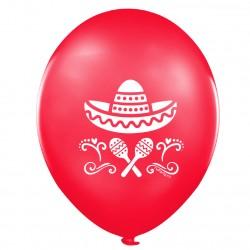"""Шар с рисунком 12"""" Мексика 100шт"""
