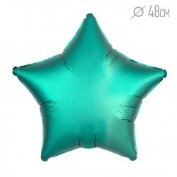 Шар Звезда Бирюза (Тиффани) Сатин Люкс 46см