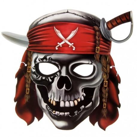 """Маска карнавальная """"Череп пирата"""", 27,6 х 25,6 см 1353912"""