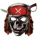 Маска карнавальная Череп пирата 28х26см
