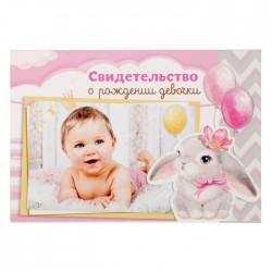 """Папка для свидетельства о рождении девочки """"Лапочка Дочка"""", 20,5 х 14,3 см."""