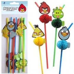 Трубочки для коктейля Angry Birds 8шт