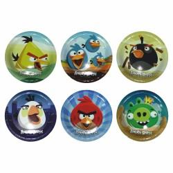 Тарелки бумажные ламинированные Angry Birds 6шт