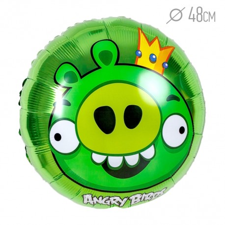 Шар Angry Birds Король Свиней 48см