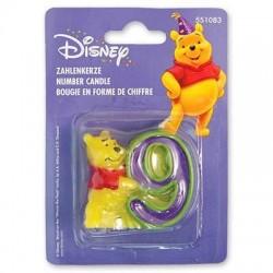 Свеча -цифра 9 Disney Винни