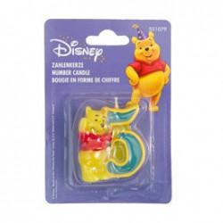 Свеча Цифра 5 Disney Винни