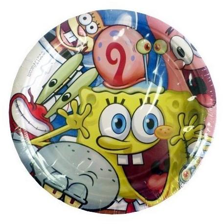 Набор тарелок Губка Боб 17см 8шт