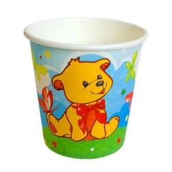 Набор стаканов С Днем Рождения Мишка 6шт