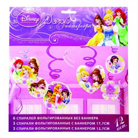 Спираль Disney Принцессы 46-60см 12шт/A