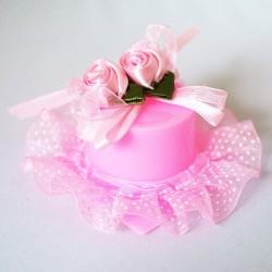 Бонбоньерка Шляпка розовая 2шт