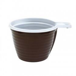 Чашка 180мл ПП кор-бел.50шт PS (Ст)