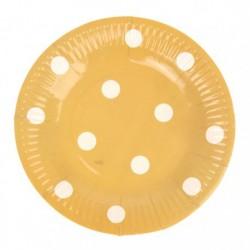 Набор тарелок Кофе с молоком в горошек 18см 6шт