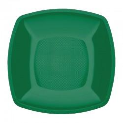 Набор тарелок Buffett квадратные изумрудные 18см 6шт
