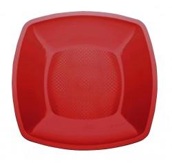 Набор тарелок Buffett квадратные бордовые 18см 6шт