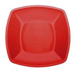 Набор тарелок Buffett квадратные алые 18см 6шт
