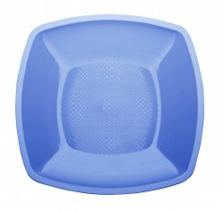 Набор тарелок Buffett квадратные голубые 18см 6шт