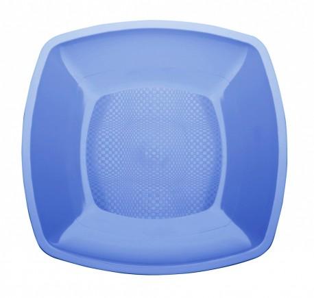 Тарелка квадратн., 180мм, плоск., голуб., ПП 6 шт/уп 25 упак/кор BUFFET РОССИЯ 183897с Диапазон ЗА