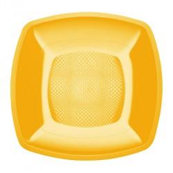 Набор тарелок Buffett квадратные желтые 18см 6шт