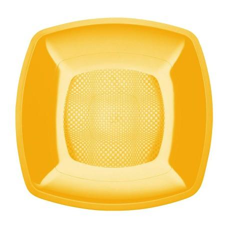 Тарелка квадратная плоская,Желтая,180мм,ПП 6шт/уп 25упак/кор BUFFET РОССИЯ 183897в Диапазон ЗАО