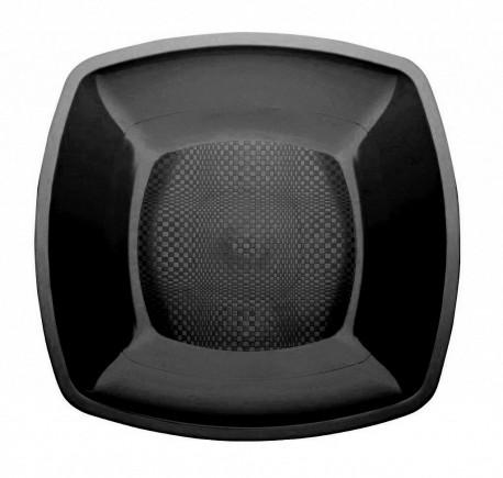 Тарелка квадратная плоская,Черная,180мм,ПП 6шт/уп 25упак/кор BUFFET РОССИЯ 183897ч Диапазон ЗАО