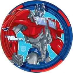 Набор тарелок Трансформеры 17см 8шт