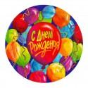 Набор тарелок День рождения с шариками 17см 8шт