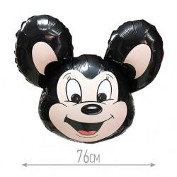 Шар Мощный мышонок черный 78см