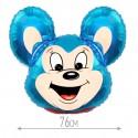 Шар Мощный мышонок синий 78см