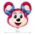 Шар Лолли-мышонок фуксия 76см