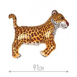 Шар (36''/91 см) Фигура, Леопард, Черный, 1 шт.