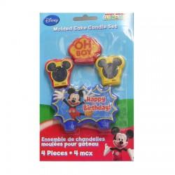 Набор свечей для торта Микки Маус 4шт