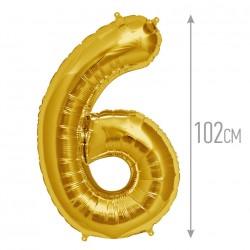 """И 40 Цифра """"6"""" золото / Six Gold"""