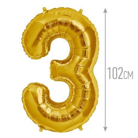 """И 40 Цифра """"3"""" золото / Three / 1 шт / (Испания)"""