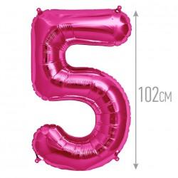 """И 40 Цифра """"5"""" фуксия / Five Purple"""