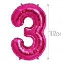"""И 40 Цифра """"3"""" фуксия / Three Purple"""