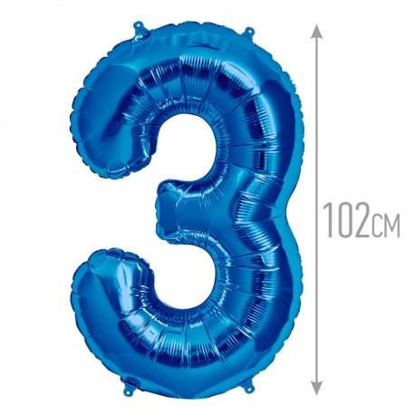 """И 40 Цифра """"3"""" синий / Three / 1 шт / (Испания)"""