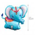 Шар фольгированный Слоненок голубой 85см